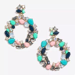J. Crew || Scenic Aqua Wreath Statement Earrings